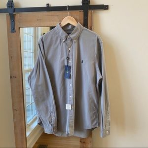 NWT Polo by Ralph Lauren Grey Oxford Button Down